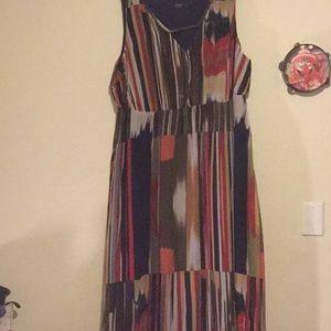 Igigi maxi multicolor dress size 28w w/ jacket